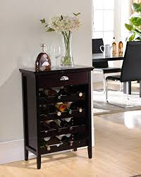 amazon com kings brand furniture wood buffet wine rack cabinet