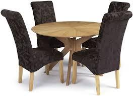 Aubergine Dining Chairs Buy Serene Bexley Oak Dining Set With 4 Kingston Aubergine