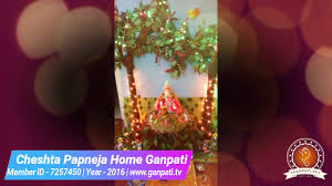 Home Ganpati Decoration Cheshta Papneja Home Ganpati Decoration Video U0026 Ideas Www