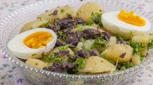 cuisiner les gesiers salade de pommes de terre aux gésiers de canard et aux oeufs