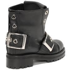 mens buckle biker boots alexander mcqueen buckle biker boot in black for men lyst