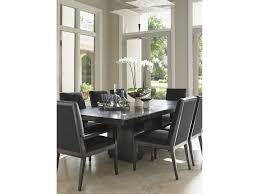 lexington carrera modena double pedestal dining table with one