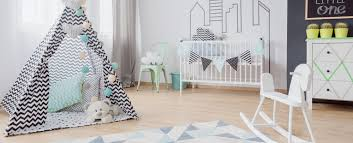 scandinavian inspired bedroom décor for child and baby