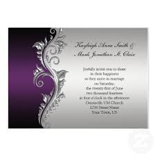 purple and silver wedding invitations vintage purple black and silver wedding invitation silver