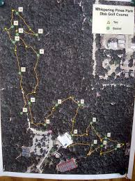 Inverness Florida Map by Whispering Pines Park Professional Disc Golf Association