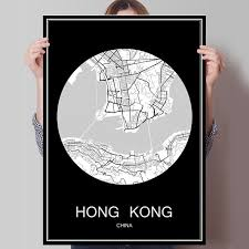 printable maps hong kong abstract world city map hong kong china print poster print on paper
