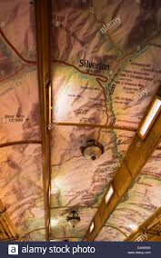 Map Of Durango Colorado by Map On The Ceiling Of A Passenger Car Durango U0026 Silverton Narrow