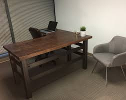 interior design rustic study desk rustic industrial office