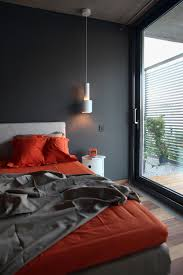 a u0026a house by woarchitects charcoal bedroom pendant lamps and