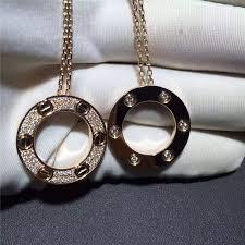 gold diamond love necklace images Cartier love necklace 18k yellow gold pave diamond necklace b7058400 jpg