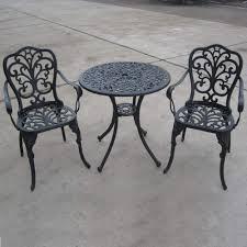 Aluminium Bistro Chairs Brundle Gardener Aluminium Bistro Set Garden