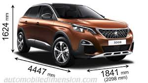 peugeot 4x4 models dimensions of peugeot cars showing length width and height