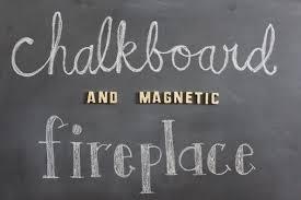 chalkboard fireplace sassy wife classy life