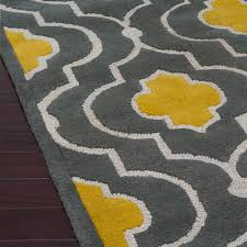 Yellow And Grey Outdoor Rug Rugshop Moroccan Trellis Contemporary Indoor Area Rug