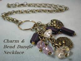 bead necklace charms images Charm and bead dangle necklace video tutorial jpg