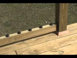 build a decorative deck handrail youtube