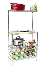Decorating A Bakers Rack Ideas Kitchen Room Wonderful Wrought Iron Microwave Stand Outdoor