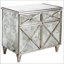 Silver Leaf Nightstand Worlds Away Humphrey Antique Mirrored Chest Silver Goldleaf