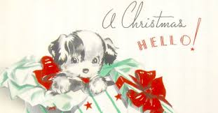 get in the spirit with these retro greeting cards