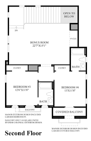 Floor Plans In Spanish by Toll Brothers At Robertson Ranch The Terraces The Costa Blanca