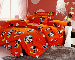 Queen Minnie Mouse Comforter Mickey And Minnie Mouse Bedding King Queen Size 4pcs Bedding Sets