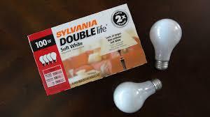 sylvania 100watt soft white incandescent light bulbs youtube