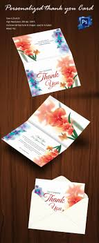 30 personalized thank you cards free printable psd eps format