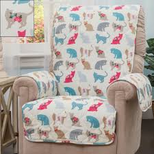 Animal Print Furniture by Felix Quilted Cat Print Patterned Furniture Protectors