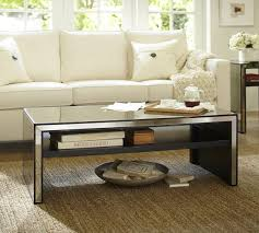 silver mirrored coffee table square mirrored contemporary coffee table modern within remodel 7
