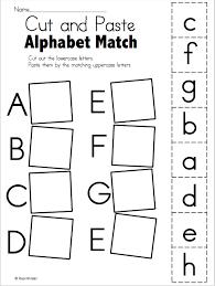 alphabet matching worksheet freebie cut and paste teacher