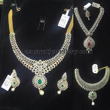simple diamond sets floral work diamond sets gallery jewellery designs