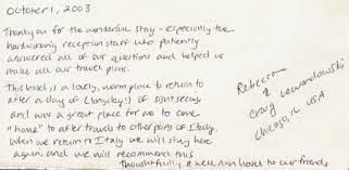appreciation letter to chef hotel lancelot rome guest comments