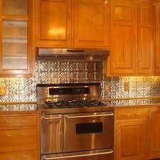 french country kitchen with pressed tin backsplash kitchens