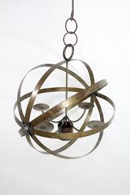 Outdoor Votive Candle Chandelier by Wrought Iron Mystic Candle Chandelier Circle Lighting