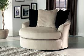 Upholstered Swivel Chairs For Living Room Single White Microfiber Upholstered Couch With Arm And Back Added