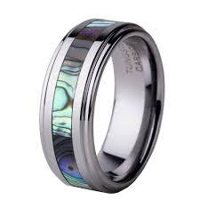 cincin tungsten carbide abalone cincin beli murah abalone cincin lots from china abalone