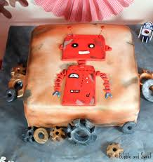 bubble and sweet red robot birthday party with a nod towards