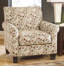 Microfiber Accent Chair Living Room Marble Table L White Shade Brown Leaf