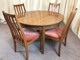 table and chairs retro dining table u0026 chairs round extendable