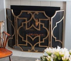 dessau antique gold oval loop fireplace screen