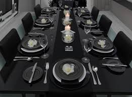 Formal Dinner Place Setting Vanda Orchids Bring Class And Elegance To This Table Setting