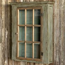 Shabby Chic Wall Cabinets by Window Pane Cabinet Glass Door Wall Cabinet Shabby Chic