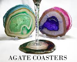 agate coasters agate coasters qty 1 with cork 4 with 1 stand for every 2