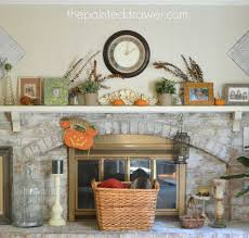 my whitewashed brick mantel for fall paint mantels and a bowl