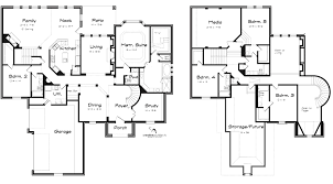 Floor Plan Two Storey incredible 5 bedroom one story floor plans including best ideas