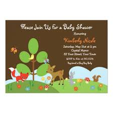Baby Woodland Animals Baby Shower - baby shower invitations amazing woodland creatures baby shower