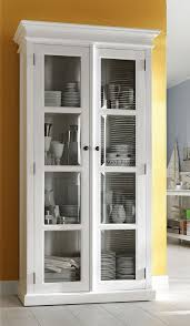 Kitchen Display Cabinets Stockholm White Painted Mahogany Furniture Glazed Glass 2 Doors