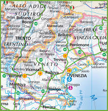 Italy Map Cities Large Map Of Veneto
