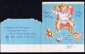 baby u0027s first birthday card fc 59 ebay babys pinterest