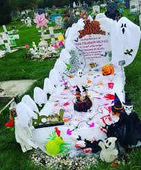 headstone decorations spends hundreds decorating stillborn baby s grave for